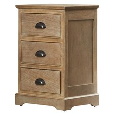 3 Drawer End Table by Alcott Hill