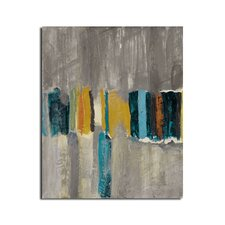 'Smash VII' by Ready2HangArt™ Framed Painting Print on Wrapped Canvas