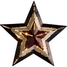 Lighted Americana Star Wall Décor