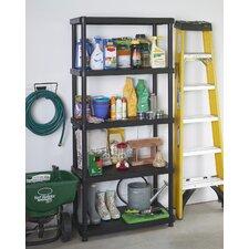 Freestanding Plastic Storage 72 H Five Shelf Shelving Rack Unit by Keter