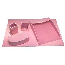 Hinsdale 5 Piece Leatherette Desk Set