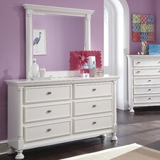 Jeffersonville 6 Drawer Dresser with Mirror by Darby Home Co