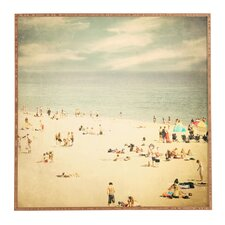 vintage beach framed photographic print plaque