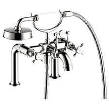 Axor Montreux Two Handle Deck Mounted Freestanding Tub Filler with Hand Shower by Axor