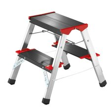 ChampionsLine 2-Step Aluminium Step Stool with 175kg Load Capacity