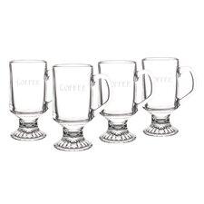 Personalized 10 oz. Irish Glass Coffee Mug (Set of 4)