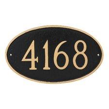 1-Line Wall Address Plaque