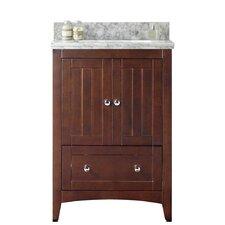 Nixon Floor Mount 23.75 Single Bathroom Rectangular Plywood-Veneer Vanity Set with Ceramic Top by Darby Home Co