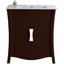 Dayne Wood Floor Mount 30 Single Bathroom Vanity Set by Latitude Run