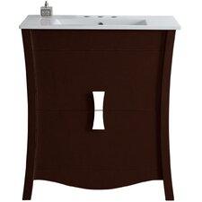 Dayne Exquisite Floor Mount 30 Single Bathroom Vanity Set by Latitude Run