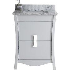Cataldo Floor Mount 24 Single Bathroom Vanity Set with 8 Centers Faucet Mount by Latitude Run
