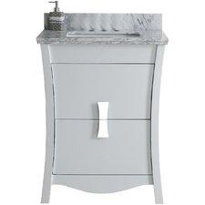 Cataldo Floor Mount 24 Single Bathroom Vanity Set with 4 Centers Faucet Mount by Latitude Run
