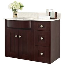 Tiffany 36 Transitional Wall Mount Vanity Base Set by American Imaginations