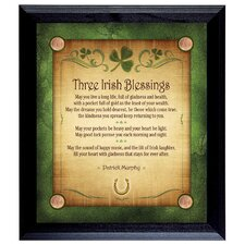 Three Irish Blessings Personalized Framed Textual Art
