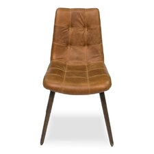 Harned Leather Side Chair by Sarreid Ltd