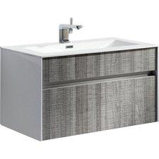 "Brockman 24"" Single Modern Bathroom Vanity Set"