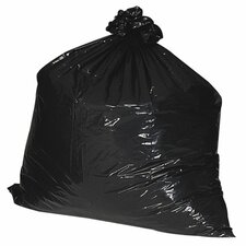 56 Gallon Recycled Trash Bags, 1.35mil, 100 per Box