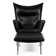 Wing Wing back Chair & Ottoman by Kardiel