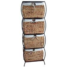 Seagrass Basket Storage Pangaea Rattan 4 Drawer File Cabinet