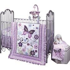 Butterfly Lane 5 Piece Crib Bedding Set