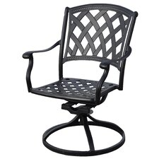 Ocean View Swivel Dining Arm Chair with Cushion (Set of 2)