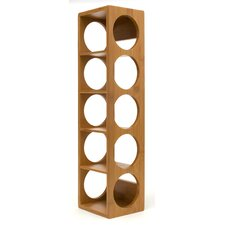 Bamboo 5 Bottle Tabletop Wine Rack