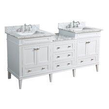 Eleanor 72 Double Bathroom Vanity Set by Kitchen Bath Collection