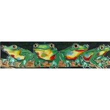 Horizontal Frogs Tile Wall Decor