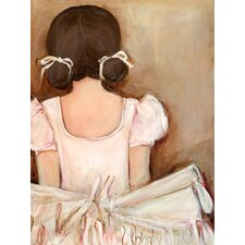 Lovely Ballerina Brunette' by Kristina Bass Bailey Painting Print on Canvas by GreenBox Art