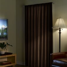 Serenity Solid Blackout Thermal Rod pocket Single Curtain Panel