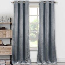 Tegan Nature/Floral Semi-Sheer Thermal Grommet Curtain Panels (Set of 2)