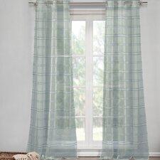 Hampstead Striped Semi-Sheer Grommet Curtain Panels (Set of 2)