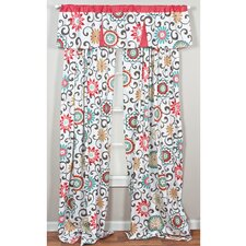 Pom Pom Play Nature/Floral Sheer Rod Pocket Single Curtain Panel