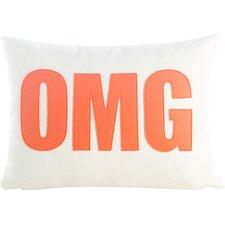 "Modern Lexicon ""OMG"" Throw Pillow"
