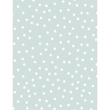 10m L x 53cm W Polka Dot Roll Wallpaper