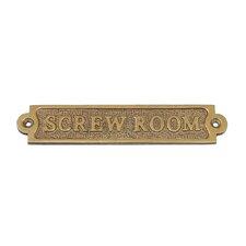 Screw Room Sign Wall Décor