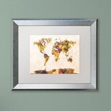 Purchase Now Map of the World by Michael Tompsett Framed Graphic