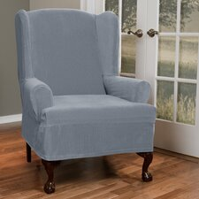 Collin Stretch T-Cushion Wing Chair Slipcover