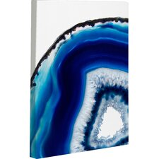 'Geode Abyss Silver' Painting Print on Canvas