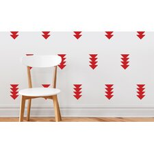 Four-Triangle-Arrow Wall Decal (Set of 32)