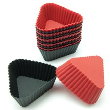 Silicone Mini Triangle Reusable Cupcake and Muffin Baking Cup (Set of 12)