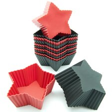 Silicone Mini Star Reusable Cupcake and Muffin Baking Cup (Set of 12)