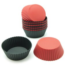 Silicone Mini Round Reusable Cupcake and Muffin Baking Cup (Set of 12)