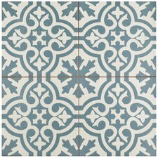 "Alameda 17.63"" X 17.63"" Ceramic Patterned/Field Tile in Spruce Blue"