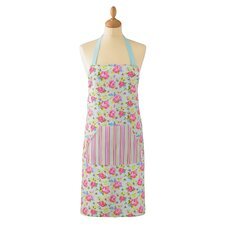 Vintage Floral Cotton Apron