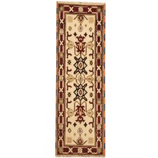 Kazak Hand-Knotted Ivory/Red Area Rug
