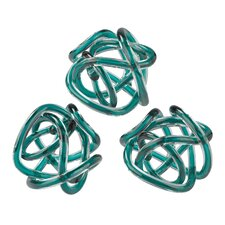 Glass Knot Sculpture (Set of 3)