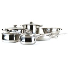 Vesta 10 Piece Stainless Steel Cookware Set