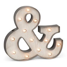 Plastic Lighted Ampersand Sign Wall Décor