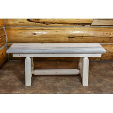 Abella Small Plank Style Dining Bench by Loon Peak